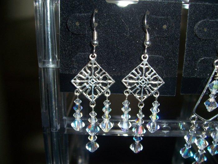 Sterling Silver Swarovski Chandelier Earring