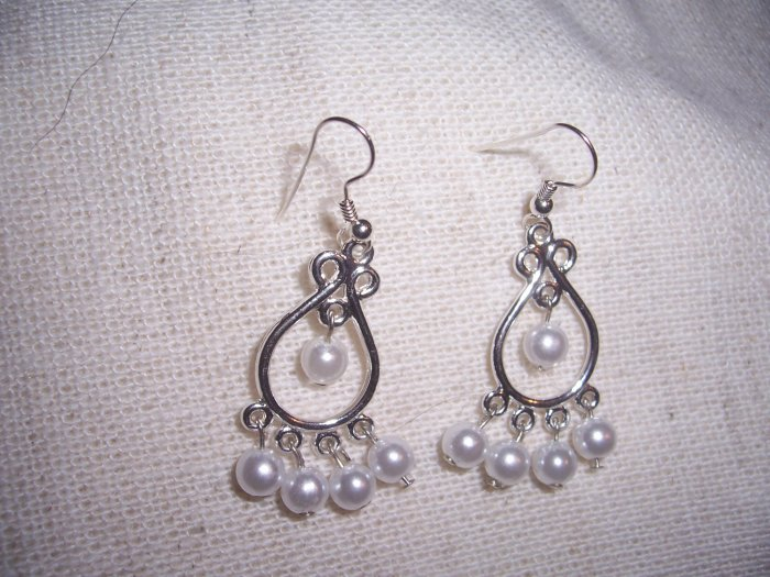 Faux Pearl Chandelier Earrings