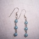 Blue Cultured Freshwater Pearl Sterling Silver earrings by A Touch of Earth