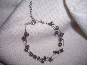 Blue CFW Pearl Multi-strand bracelet by A Touch of Earth