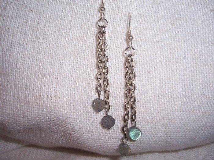 Lepidolite Chain Earring