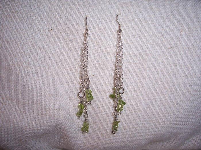 Peridot Chain Earrings