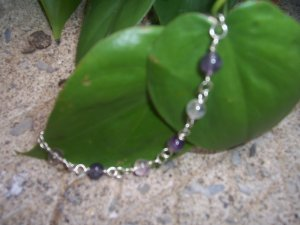 Flourite Bubbles Sterling Silver bracelet by A Touch of Earth