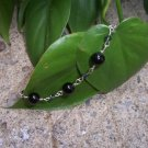 Blackstone and Swarovski Crystal Sterling Silver bracelet by A Touch of Earth