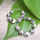 Dalmation Jasper Sterling Silver Hoop earrings by A Touch of Earth