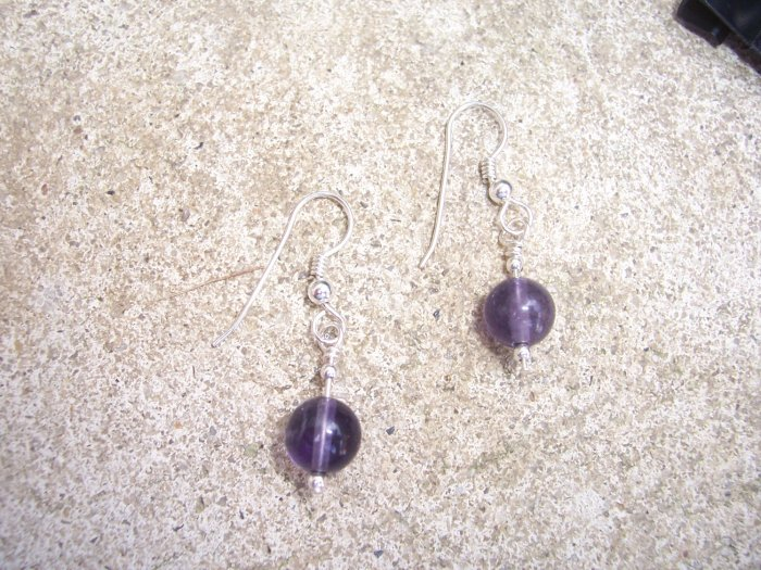 Fluorite Bubble Sterling Silver earrings by A Touch of Earth