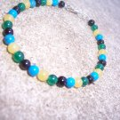 Howlite Jade Blackstone Sterling Silver Childrens bracelet by A Touch of Earth
