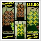Beavers/Ducks Reversible & Adjustable Apron With Pockets   *NEW!
