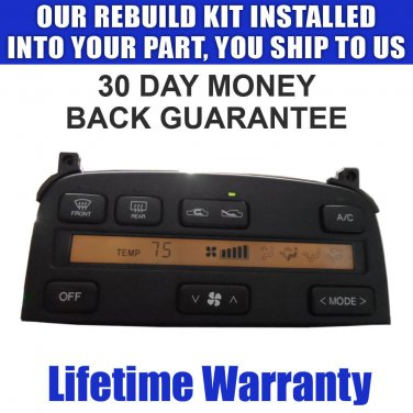LS400 SC300 SC400 CLIMATE CONTROL REPAIR SERVICE NEW LCD & BULBS READ LISTING