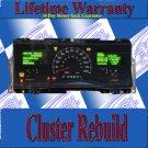 01 02 LINCOLN TOWNCAR CLUSTER REPAIR SERVICE READ LISTING