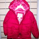3T Toddler Girls Winter Coat Jacket w/ Hood Pink Fuchia Water Resistant