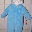 0-3 Month Infant Baby Snowsuit One Piece Jacket Winter Coat VERY SOFT Warm Blue