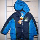 2T Boys Disney Pixar Toy Story Coat Jacket Lined w/ Hood Buzz Lightyear Woody