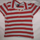 Size: L Ladies Women's American Eagle Rugby Stripe Polo Shirt