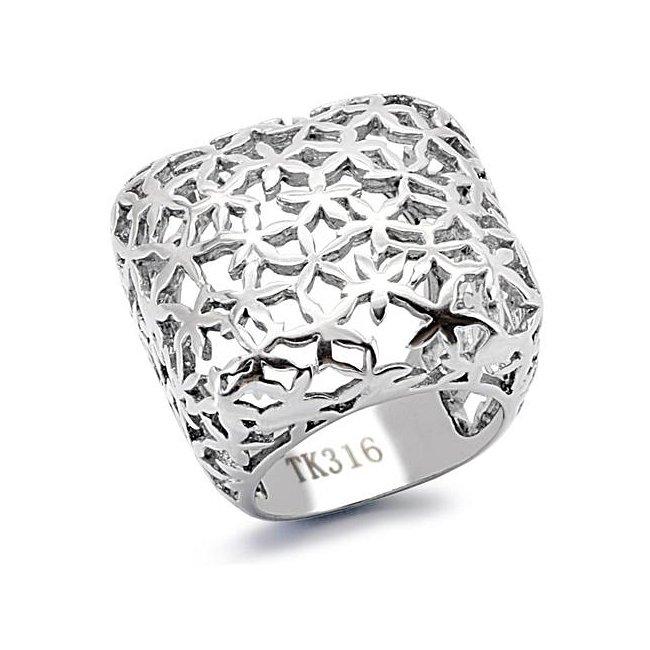 Modern High Fashion Lattice Ring ~ Stainless Steel