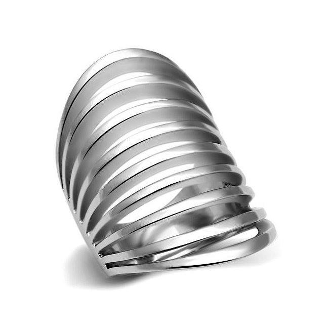 Modern High Fashion Multi Row Ring ~ Stainless Steel