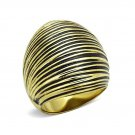Ion Gold Plated Epoxy Dome Ring ~ Stainless Steel