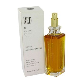 TESTER 3.0 oz EDT Red Perfume by Giorgio Beverly Hills for Women