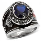 United States Marines Montana Blue Military Ring ~ Stainless Steel