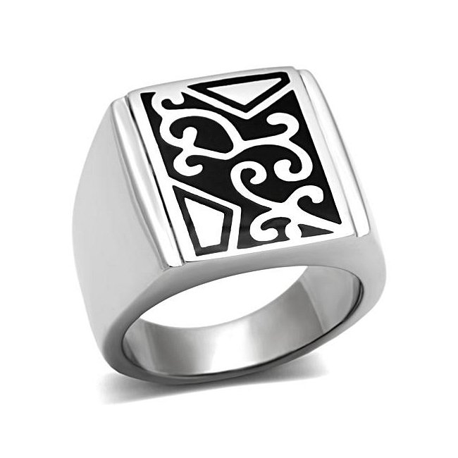 Modern Design Square Band Ring ~ Stainless Steel