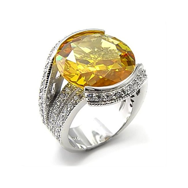 Gorgeous Cubic Zirconia Topaz ~ Sterling Silver