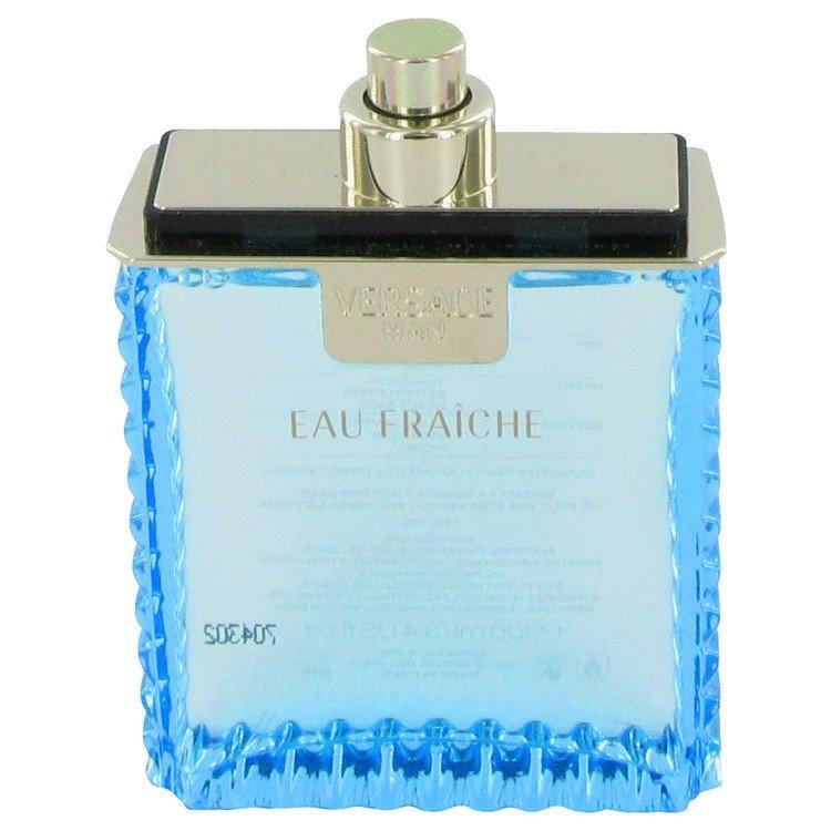 TESTER 3.4 oz Versace Man Cologne by Versace for Men Eau Fraiche Eau De Toilette Spray