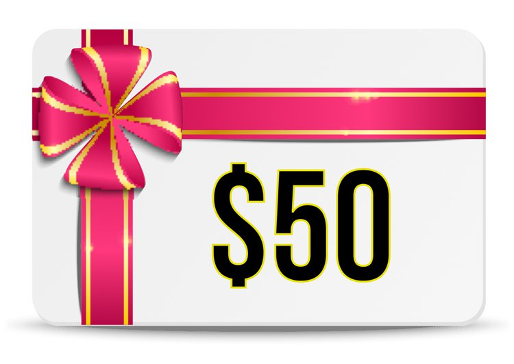 $50.00 E-GIFT CERTIFICATE FROM THE FUN SHOPPE
