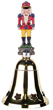 German Brass Bell with Pewter Nutcracker Handle
