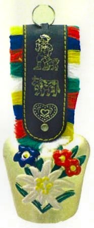 Medium Cow Bell with Colored Strap