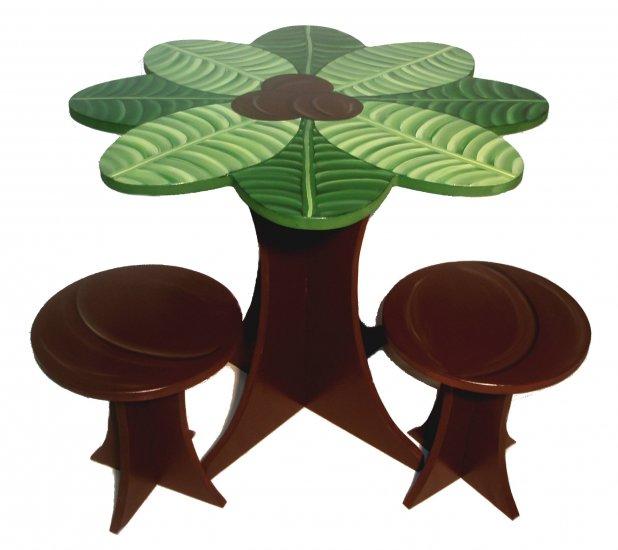 Coconut Palm Teacup Table Set