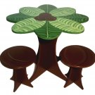Coconut Palm Teacup Table Set