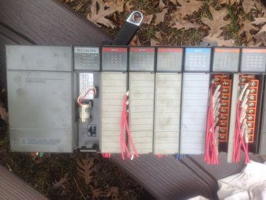 Allen Bradley  PLC Rack 1746-A7 With SLC 5/02, full with cards