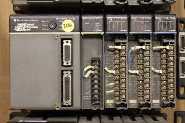 TEXAS INSTRUMENTS MODEL 435DC CENTRAL PROCESSING UNIT W 4-SLOT RACK U-04B & VARI