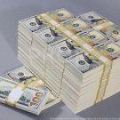 PROP MONEY New Style $100s $500,000 Blank Filler Bundles For Movie, TV, Videos