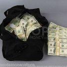 PROP MONEY USED LOOK $500k DUFFEL BAG PACKAGE for Movie, TV, Videos Novelty