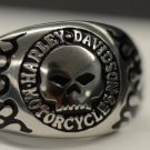 Harley Davidson Willie Skull ring