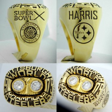 1975 Pittsburgh Steelers Super Bowl Championship Ring Harris