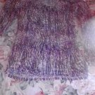 73277 Mudd multi color size large lace type long sleeved shirt Rich Berry color on tag