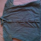 Perry Ellis size small blue Embroidered button down shirt