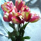 Pink Sweetheart Tulip Bouquet - Home Interiors HOMCO