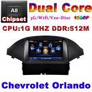 Chevrolet Orlando 2012 GPS radio USB 1G CPU 3G Host with actual USA map