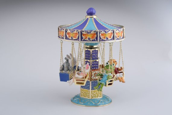 Swing Carousel w/ Animals Fabergé Style