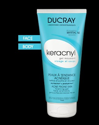 DUCRAY KERACNYL GEL MOUSSANT ACNEIC SKIN 200ml