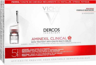 Vichy Dercos Aminexil Clinical 5 Ampoules Hair Loss for Women 21 X 6ml