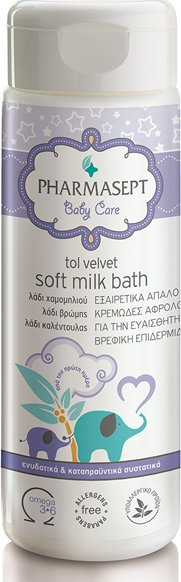 PHARMASEPT TOL VELVET BABY CARE SOFT MILK BATH 200ML