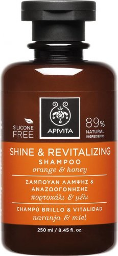 Apivita Shine & Revitalizing Shampoo 250ml With Orange & Honey