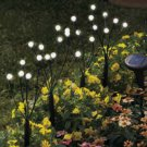 Solar Powered 24 LED (6*4) 4 White Flowers Lights Outdoor Patio Garden Decorative