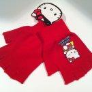 SALE Hello Kitty Super Hero Red Fingerless Gloves FREE Shipping