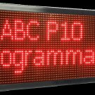 "25""x63"" Red 10mm Outdoor Scrolling Programmable LED Sign"