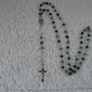 Green and Purple crystal Rosary